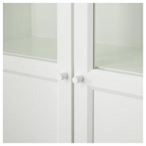 БИЛЛИ / ОКСБЕРГ Стеллаж/панельные/стеклянные двери белый/стекло 160x202x30 см - Артикул: 192.807.41