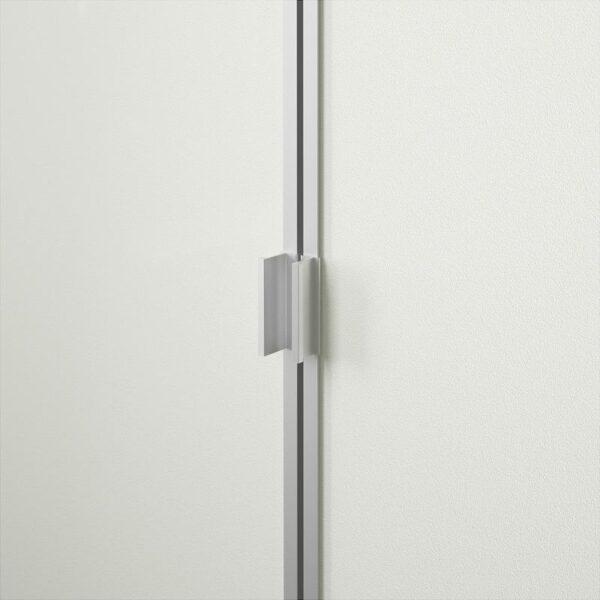 БИЛЛИ / МОРЛИДЕН Шкаф книжный со стеклянными дверьми черно-коричневый/стекло 80x106x30 см - Артикул: 492.873.69
