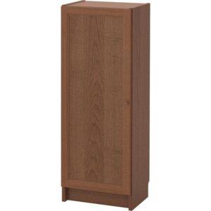 БИЛЛИ / ОКСБЕРГ Стеллаж с дверью коричневый ясеневый шпон 40x106x30 см - Артикул: 892.873.91