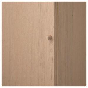 БИЛЛИ / ОКСБЕРГ Стеллаж с дверью дубовый шпон, беленый 40x106x30 см - Артикул: 592.873.97