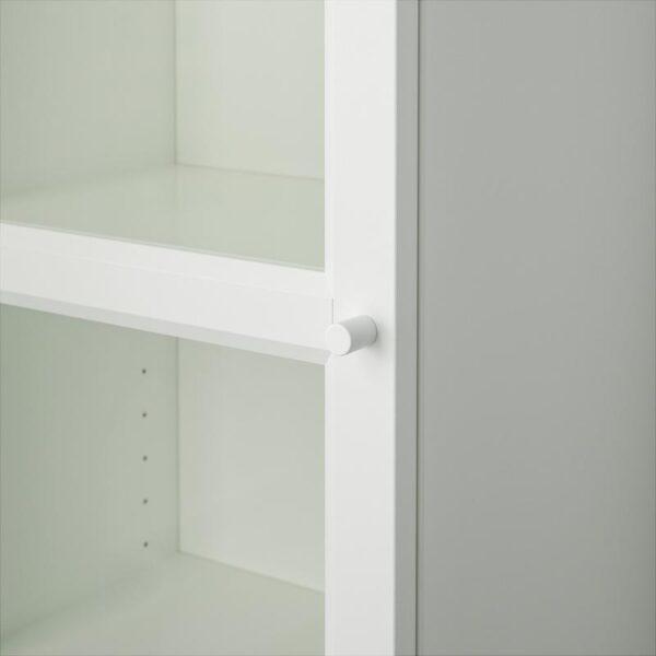 БИЛЛИ / ОКСБЕРГ Шкаф книжный со стеклянной дверью белый/стекло 40x202x30 см - Артикул: 892.874.09