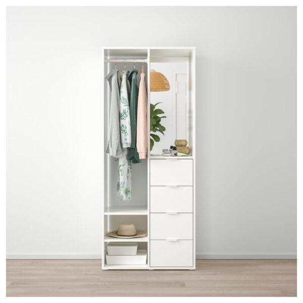 САНДЛАНДЕТ Открытый гардероб белый 80x40x190 см - Артикул: 604.219.17