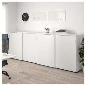 ГАЛАНТ Комбинация для хран с раздв дверц белый 320x120 см - Артикул: 892.856.17