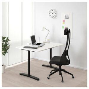 БЕКАНТ Письменный стол, белый/черный 120x80 см - Артикул: 993.022.11