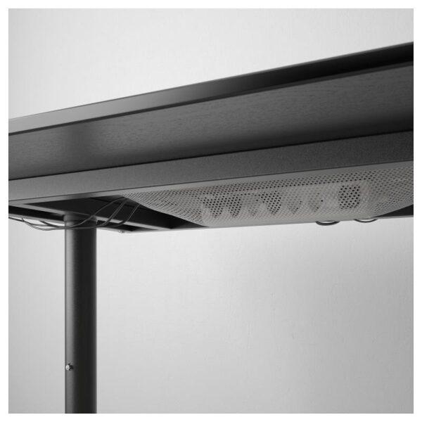 БЕКАНТ Письменный стол ясеневый шпон/черная морилка/черный 160x80 см - Артикул: 292.825.94