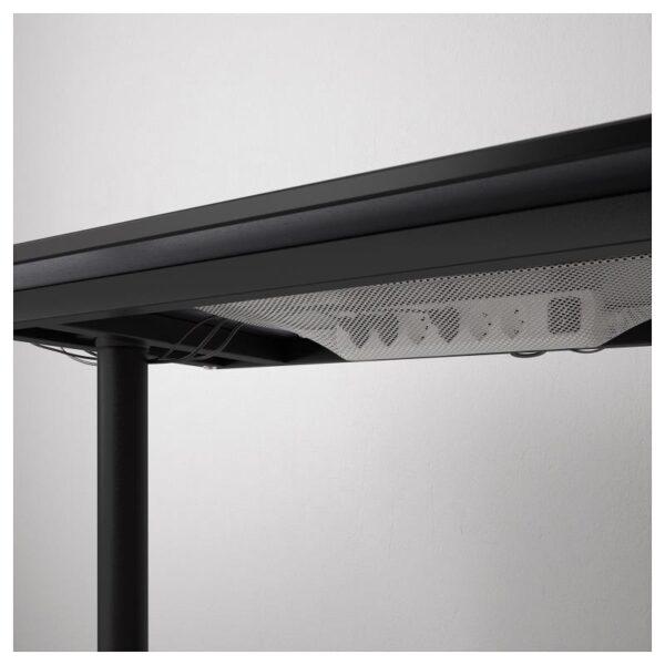 БЕКАНТ Углов письм стол правый ясеневый шпон/черная морилка/черный 160x110 см - Артикул: 492.828.66