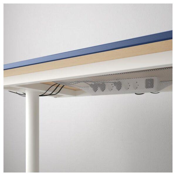 БЕКАНТ Углов письм стол правый линолеум синий/белый 160x110 см - Артикул: 892.828.88