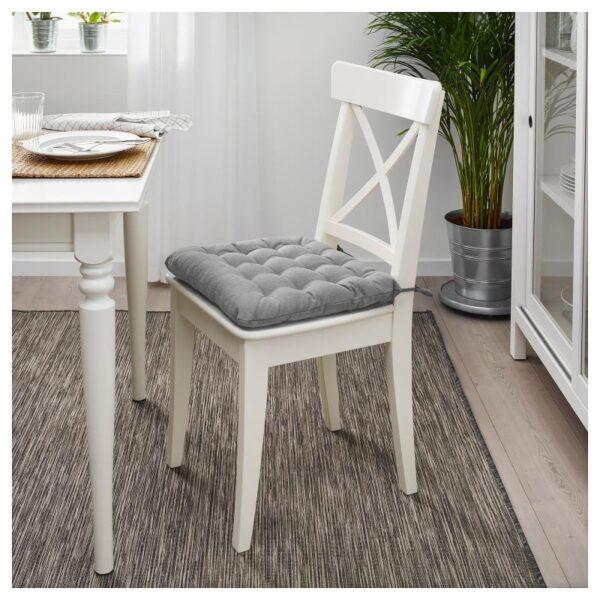 ВИППЭРТ Подушка на стул, серый 38x38x6.5 см - Артикул: 303.958.11