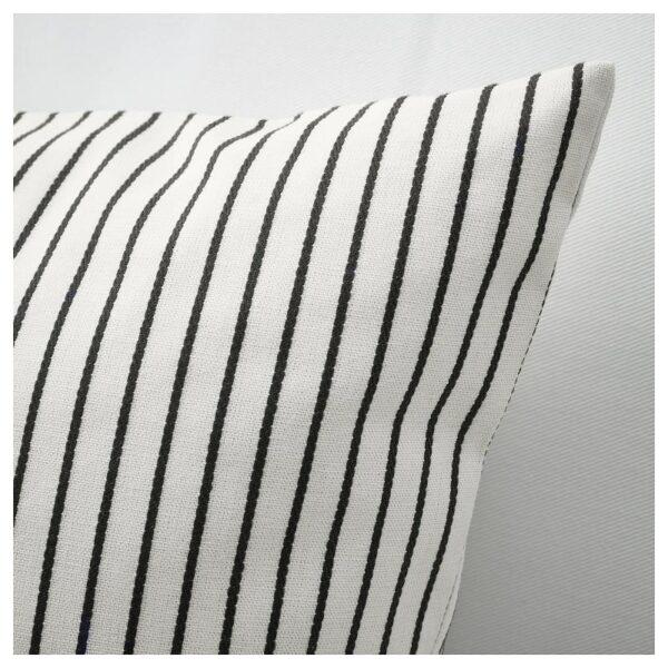 ИНГАЛИЛЛ Чехол на подушку, белый/темно-серый в полоску 50x50 см - Артикул: 604.326.66
