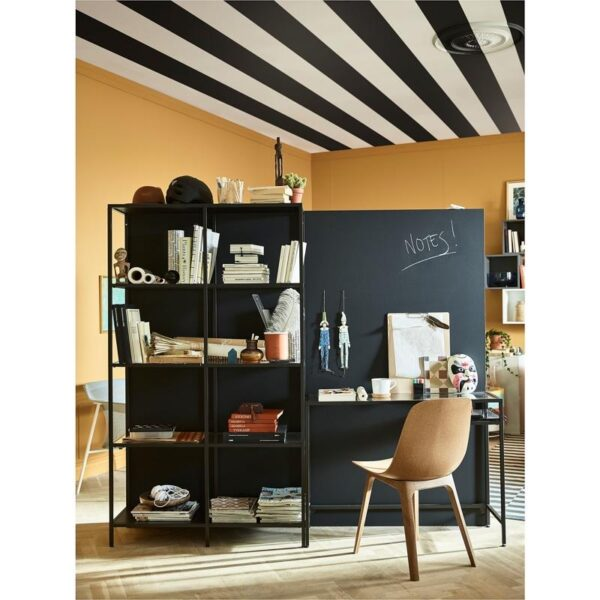 ВИТШЁ Стеллаж+стол д/ноутбука черно-коричневый/стекло 200x175 см - Артикул: 592.944.87