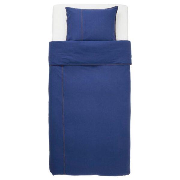 СОНГЛЭРКА Пододеяльник и 1 наволочка, темно-синий 150x200/50x70 см - Артикул: 904.269.99