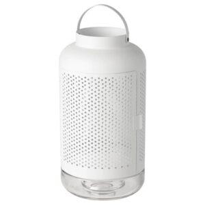 ЭДЕЛЬХЕТ Фонарь для формовой свечи, белый 40 см - Артикул: 504.160.49