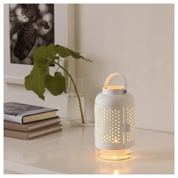 ЭДЕЛЬХЕТ Фонарь для греющей свечи, белый 21 см - Артикул: 904.216.47