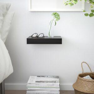 ЛАКК Полка навесная, черно-коричневый 30x26 см - Артикул: 004.305.90