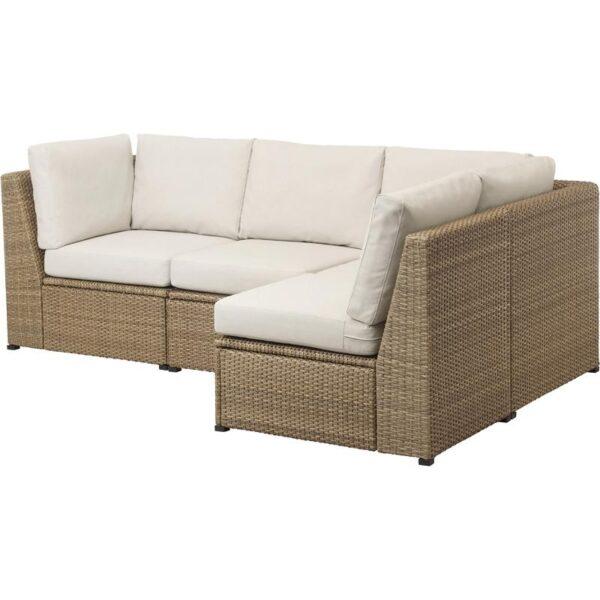СОЛЛЕРОН Угловой диван 2+2, садовый - Артикул: 192.859.32