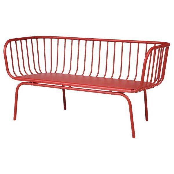 БРУСЕН 3-местный диван садовый, красный - Артикул: 204.363.55