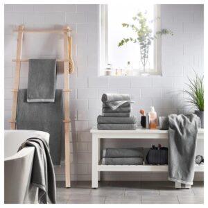 ВИКФЬЕРД Банное полотенце, серый 70x140 см - Артикул: 204.052.12