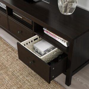 ХЕМНЭС Шкаф для ТВ, комбинация, черно-коричневый 326x197 см - Артикул: 392.995.51