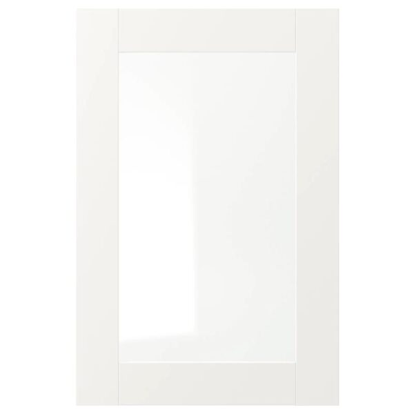 ВЭРД Стеклянная дверь, белый 40x60 см - Артикул: 903.837.87