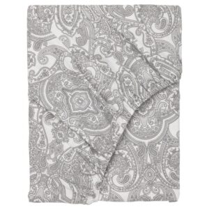 ЙЭТТЕВАЛЛМО Простыня натяжная, белый/серый 180x200 см - Артикул: 604.365.94