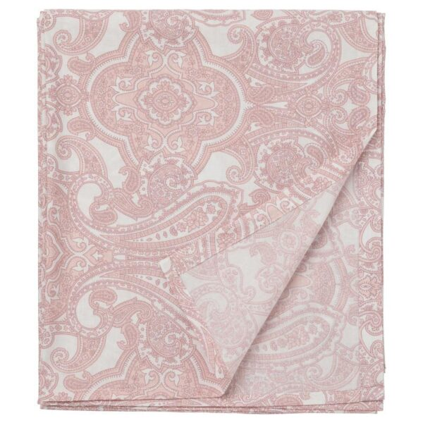 ЙЭТТЕВАЛЛМО Простыня, белый/розовый 240x260 см - Артикул: 904.366.01