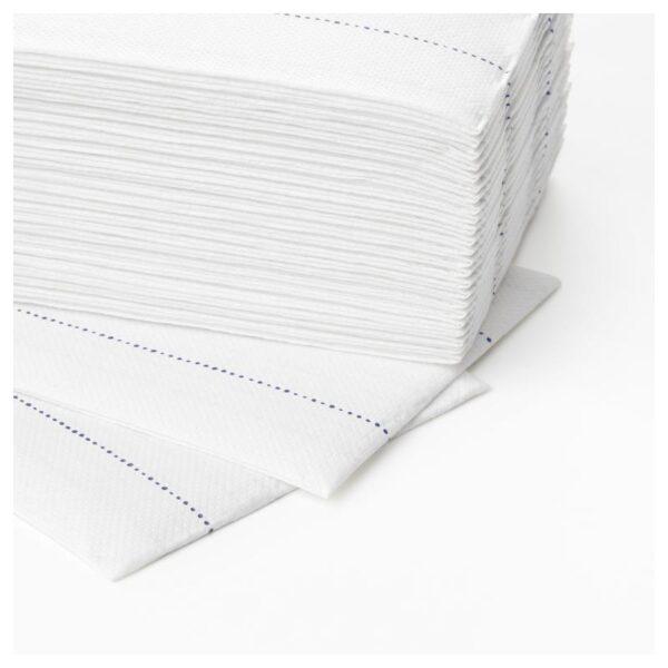 ВЕРКЛИГХЕТ Салфетка бумажная, белый/синий 38x38 см - Артикул: 604.327.08