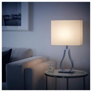 КЛАБ Лампа настольная белый с оттенком/никелированный 44 см - Артикул: 604.249.54