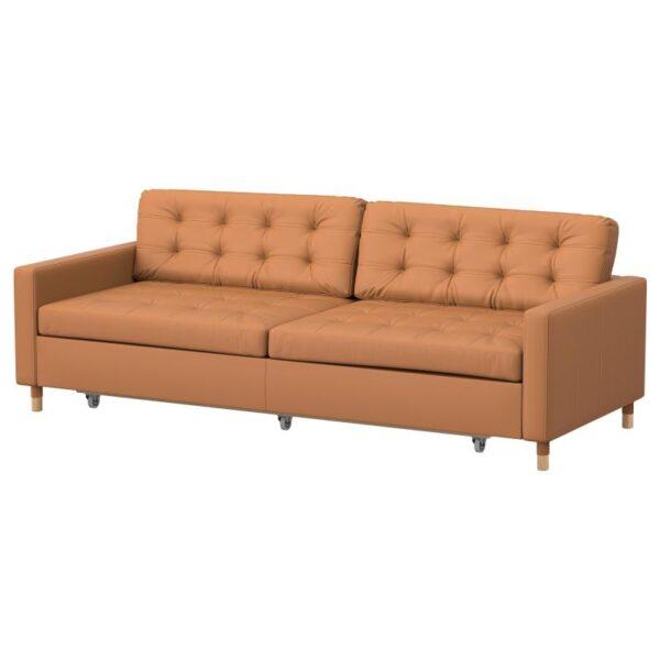 ЛАНДСКРУНА 3-местный диван-кровать, Гранн Бумстад золотисто-коричневый дерево. Артикул: 092.830.14