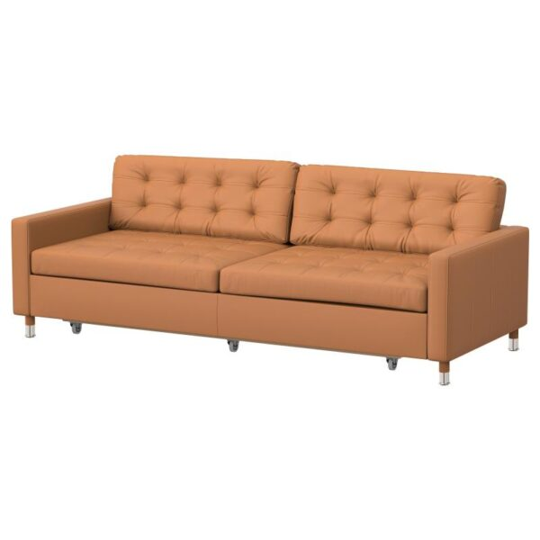 ЛАНДСКРУНА 3-местный диван-кровать, Гранн Бумстад золотисто-коричневый металл. Артикул: 792.830.15