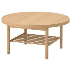 ЛИСТЕРБИ Журнальный стол белая морилка дуб 90 см - Артикул: 404.080.83
