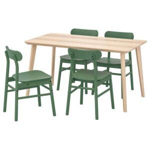 ЛИСАБО / РЁННИНГЕ Стол и 4 стула, - Артикул: 192.971.24