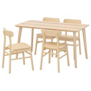 ЛИСАБО / РЁННИНГЕ Стол и 4 стула, - Артикул: 192.971.19