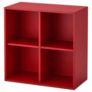 ЭКЕТ Навесной модуль с 4 отделениями, красный 70x35x70 см - Артикул: 792.862.74