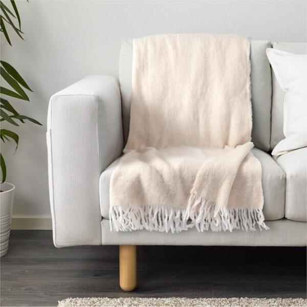 СКЁЛЬДБРЭККА Плед белый с оттенком 120x180 см - Артикул: 304.352.23