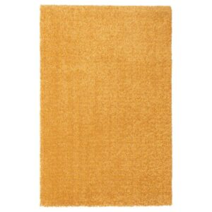 ЛАНГСТЕД Ковер, короткий ворс, желтый 60x90 см - Артикул: 004.239.43