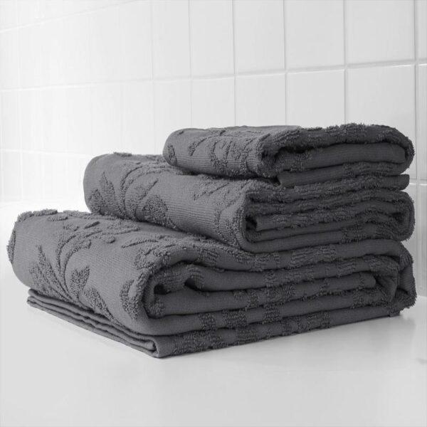 ФЛОКАН Банное полотенце серый 70x140 см - Артикул: 004.348.33