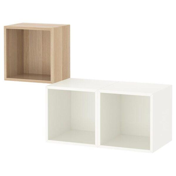 ЭКЕТ Комбинация настенных шкафов, под беленый дуб/белый 105x35x70 см - Артикул: 992.863.53