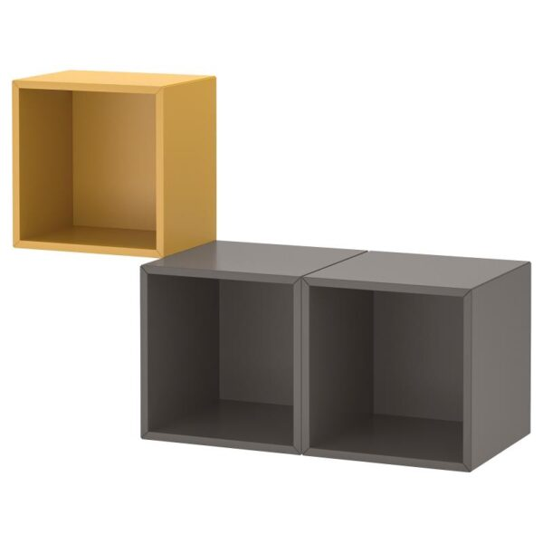 ЭКЕТ Комбинация настенных шкафов, золотисто-коричневый/темно-серый 105x35x70 см - Артикул: 092.863.57
