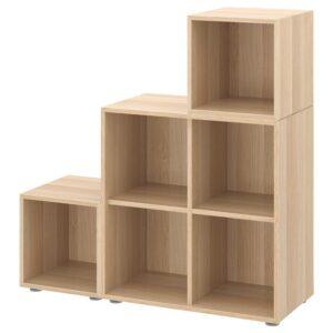 ЭКЕТ Комбинация шкафов с ножками, под беленый дуб 105x35x107 см - Артикул: 492.864.40