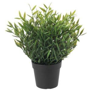 ФЕЙКА Искусственное растение в горшке, д/дома/улицы Комнатный бамбук 9 см - Артикул: 204.339.41