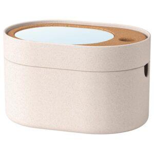 САКСБОРГА Коробка с зеркальной крышкой, пластик пробка 24x17 см - Артикул: 403.940.19