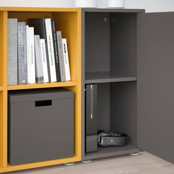 ЭКЕТ Комбинация шкафов с ножками, темно-серый/золотисто-коричневый 105x35x72 см - Артикул: 792.864.53