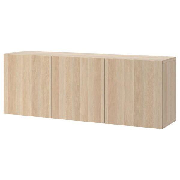 БЕСТО Комбинация настенных шкафов, под беленый дуб/Лаппвикен под беленый дуб 180x42x64 см - Артикул: 593.017.46