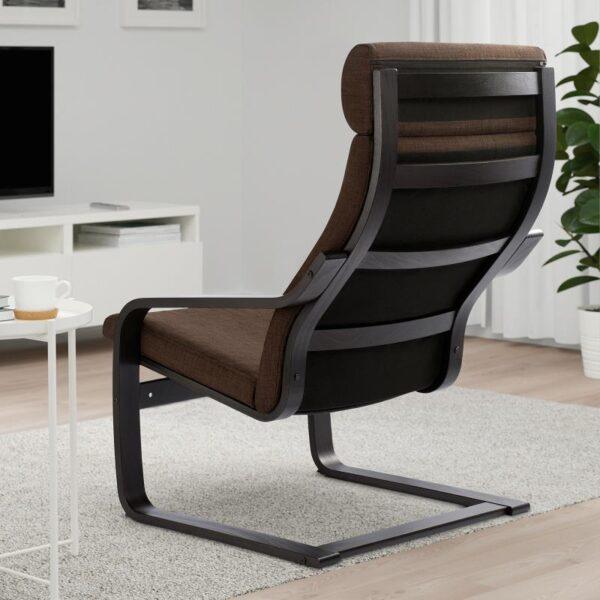 ПОЭНГ Кресло черно-коричневый/Шифтебу коричневый - Артикул: 793.028.01