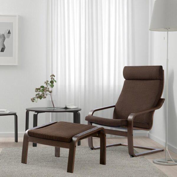 ПОЭНГ Кресло коричневый/Шифтебу коричневый - Артикул: 893.028.05