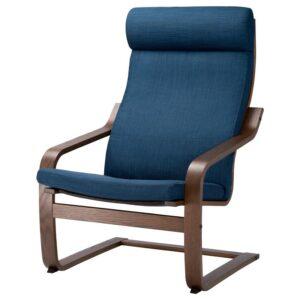 ПОЭНГ Кресло коричневый/Шифтебу темно-синий - Артикул: 693.028.06