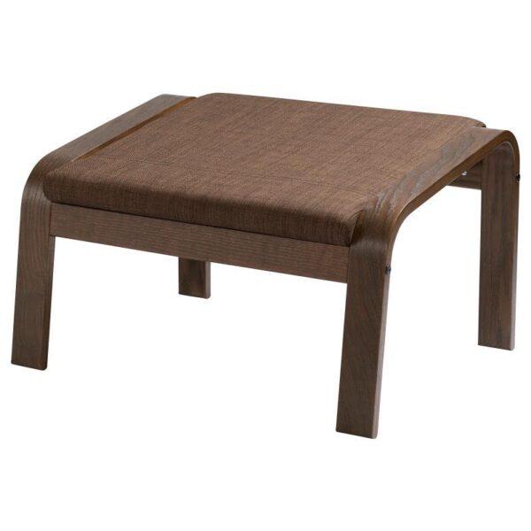ПОЭНГ Табурет для ног, коричневый/Шифтебу коричневый - Артикул: 993.028.19