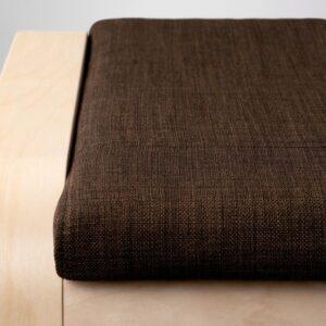 ПОЭНГ Табурет для ног, березовый шпон/Шифтебу коричневый - Артикул: 693.028.11