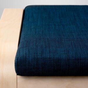 ПОЭНГ Табурет для ног, березовый шпон/Шифтебу темно-синий - Артикул: 293.028.08
