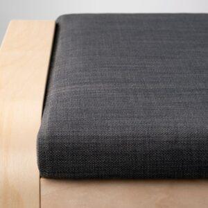 ПОЭНГ Табурет для ног, березовый шпон/Шифтебу темно-серый - Артикул: 093.028.09